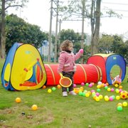 bbc620e0e503 3 in 1 Play Tent Tunnel Set Children Baby Play House Ball Pit Indoor Outdoor  Toy
