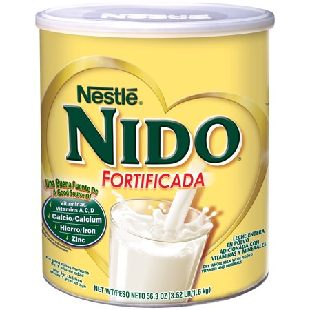 (2 pack) NIDO Fortificada Dry Milk 56.3 oz. (Best Organic Whole Milk For Babies)