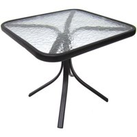 Mainstays Square Glass Patio Side Table