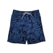 55f82b7b2a9a3 Mens Blue Hibiscus Tropical Floral Hawaiian Board Shorts Swim Trunks M