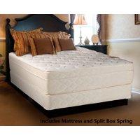 "Continental Sleep, 13-inch Fully Assembled Innerspring Firm Mattress and 8"" Split Semi Flex Box Spring, King Size"