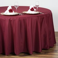 """Efavormart 108"""" Round Polyester Tablecloth for Kitchen Dining Catering Wedding Birthday Party Decorations Events"""