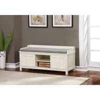 Lakeville White Storage Bench 18.75 inches Seat Height