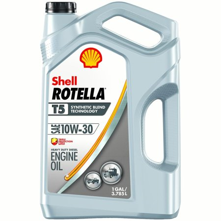 Locomotive Diesel Engines ((6 Pack) Shell Rotella T5 10W-30 Diesel Engine Oil, 1 gal )