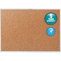 """Quartet Classic Series Cork Bulletin Board, 72"""" x 48"""", Silver Aluminum Frame"""