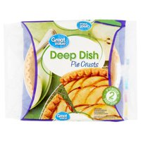 """Great Value Deep Dish 9"""" Pie Crusts, 2 count, 16 oz"""