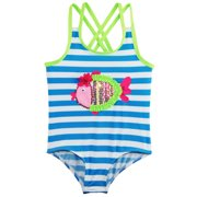 e5bba2260e Wippette Baby Girls All Over Stripes with Sequin Fish One Piece Swimsuit