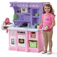 Step2 Little Bakers Kids Play Kitchen with 30-Piece Play Food Baking Toy Set