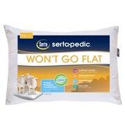 Sertapedic Won't Go Flat Pillow, 1 Pack, Standard/Queen Size