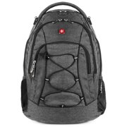 8515dcb8803a SwissGear Travel Gear Lightweight Bungee Backpack (Heather Grey) - for  School