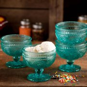 The Pioneer Woman Adeline 10 oz Glass Sundae Cups, Set of 4
