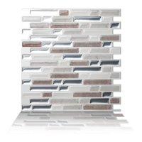 Tic Tac Tiles - Premium Anti Mold Peel and Stick Wall Tile Backsplash in Como Pebble