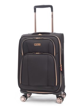"iFLY Soft Sided Luggage Sunset 20"", Black/Rose Gold"