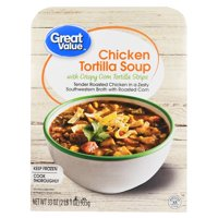 Great Value Chicken Tortilla Soup with Crispy Corn Tortilla Strips, 33 oz