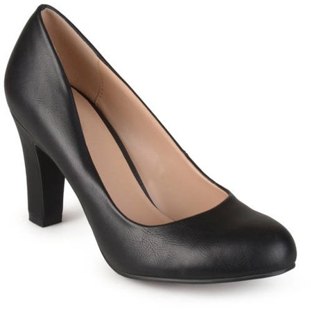 Black Chunky High Heel (Women's Chunky Heel Matte Finish)