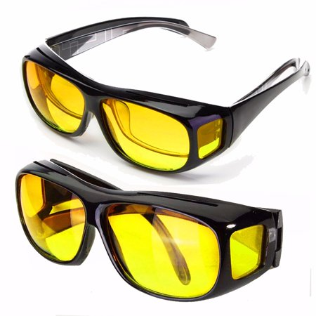 Yellow Unisex HD Lenses Sunglasses UV Protection Night Vision Driving Sports Goggles Driving