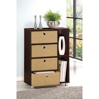 Furinno 11159 Multipurpose Storage Cabinet w/4 Bin-Type Drawers