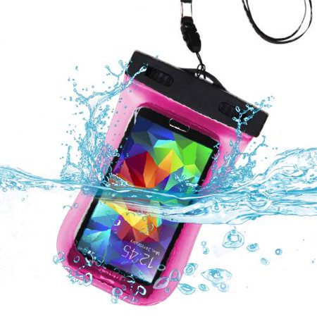 Premium Waterproof Sport Armband Case Bag for LG  E739 (myTouch), LS855 (Marquee), VS700 (Enlighten/ Gelato Q), P999 (G2X) (with Lanyard) (Hot Pink) + MYNETDEALS Mini Touch Screen Stylus