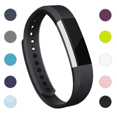 For Fitbit Alta / Alta HR Bands Adjustable Replacement Wrist Bands Soft TPU Material Strap Without Tracker (Black,