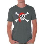 d181571e5b2af Awkward Styles Sugar Skull Shirts for Men Jolly Roger Skull and Crossbones  Men s Tee Shirt Tops