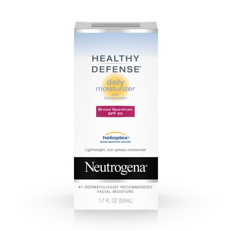 Neutrogena Healthy Defense Daily Face Moisturizer with SPF 50, 1.7 fl. (Best Moisturizer For 50 Year Old Woman Uk)