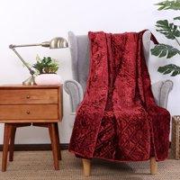 Better Homes & Gardens Crushed Velvet Throw Blanket, 1 Each
