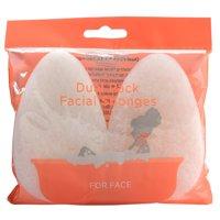 Equate Beauty Dual Pack Facial Sponges, 2 Count