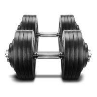 Yes4All 200 lb Adjustable Dumbbell Weight Set - Cast Iron Dumbbell (a Pair)