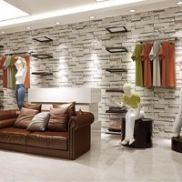 57sq.ft/393.7'' x 21'' Removable Waterproof 3D Embossed Effect Brick Stone Wall Decor Wallpaper Wall Decal / Wall Accent / TV Walls Roll Vinyl for Cloth Shop Restaurant Living Room