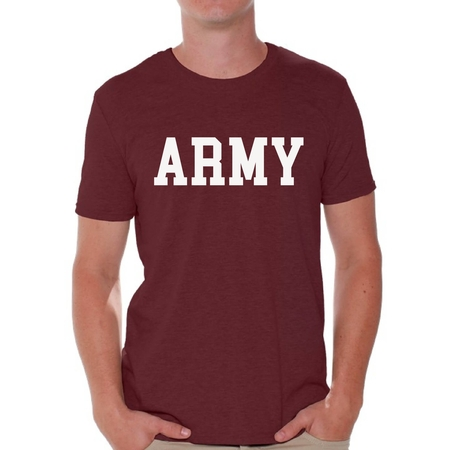 Awkward Styles Men's Army Shirt Military Tshirt Army Gifts for Him Military Training Workout Clothes Army Tshirt for