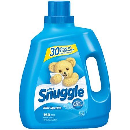 Personalized Snuggle - Snuggle Liquid Fabric Softener, Blue Sparkle, 120 Ounce, 150 Loads