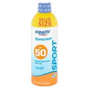 Equate Sport Broad Spectrum Sunscreen Spray, Value Size, SPF 50, 9.1 oz