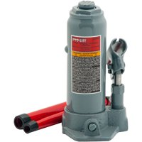 Pro-Lift B-004D Grey Hydraulic Bottle Jack, 4 Ton Capacity