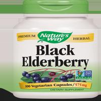 Nature's Way Elderberry, Black, Non-GMO Project, Tru-ID? Certified, 100 Ct
