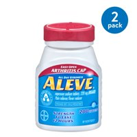 (2 Pack) Aleve Easy Open Arthritis Cap Pain Reliever/Fever Reducer Naproxen Sodium Tablets, 220 mg, 200 Ct