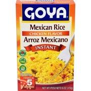 Goya Instant Chicken Flavor Mexican Rice, 6 oz