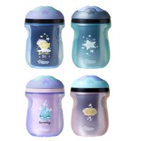 Tommee Tippee Insulated Sipper Toddler Tumbler Cup, 12+ months – 9 ounces, 2 Count (Colors May Vary)