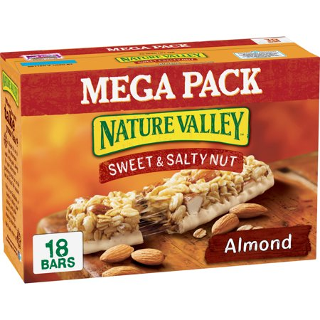 Nature Valley Granola Bar, Snack, Sweet and Salty Bar, Almond 18 -