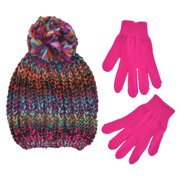 Winter Beanie Hat and Gloves Cold Weather Set 7378a9a7d889