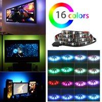 """TSV 37.5"""" RGB Multi Color LED Light Strip Bias Lighting USB Power Background Lighting For TV HDTV Monitor Wall Light"""