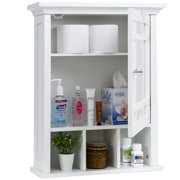 Best Choice Products Bathroom Vanity Mirror Wall Storage Cabinet (White)