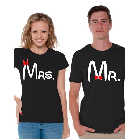 Awkward Styles Matching Couple Shirts Mrs and Mr T Shirt for Couples Wedding and Anniversary Couple Shirts Mrs and Mr Cute Couple Shirts Happy Valentines Day Mr & Mrs Matching Couple Set - Cute Pokemon Couples