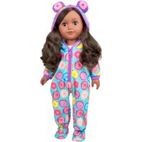"My life as 18"" poseable sleepover host girl doll, dark brown hair"