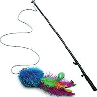 Playful Pet Feathers Wand Cat Toy