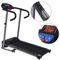 Goplus 1100W Folding Treadmill Electric Support Motorized Power Running Fitness Machine