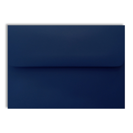 Navy Blue 70lb Square Flap 25 Boxed A7 Envelopes 5-1/4 x 7-1/4 for 5 x 7 Weddings Greeting Cards Invitations Announcement Showers from The Envelope Gallery
