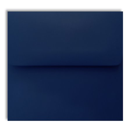 Navy Blue 70lb Square Flap 25 Boxed A7 Envelopes 5-1/4 x 7-1/4 for 5 x 7 Weddings Greeting Cards Invitations Announcement Showers from The Envelope - Wedding Envelope Box
