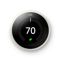 Nest Learning Thermostat - 3rd Generation - Stainless Steel