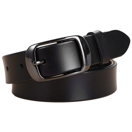 Women's Classic Metal Buckle Handcrafted Genuine Leather Jean Belt (Style 3w004) Boca Classics Classic Belt