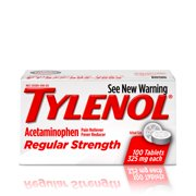 Tylenol Regular Strength Tablets, Fever Reducer and Pain Reliever, 325 mg, 100 ct.